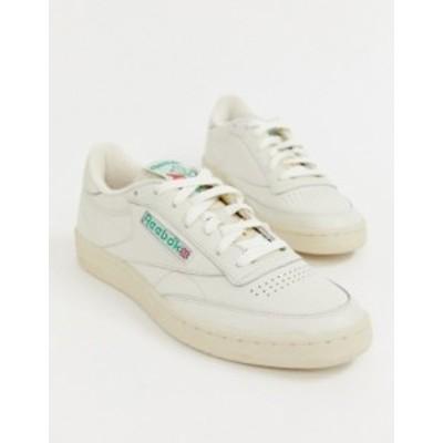 リーボック メンズ スニーカー シューズ Reebok Club C 1985 TV sneakers in off white Wh1 - white 1