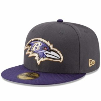 New Era ニュー エラ スポーツ用品  New Era Baltimore Ravens Youth Graphite/Purple Gold Collection On Field 59FIFTY Fit