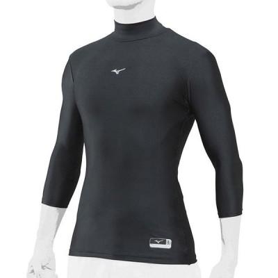ミズノ 七分袖ハイネックアンダーシャツ  バイオギア(12JA8C2009(ブラック))数量限定特価