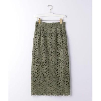 green label relaxing / 【EMMEL REFINES】EM ケミカルレース Iラインスカート / レーススカート WOMEN スカート > スカート