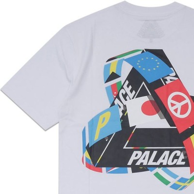 新品 パレス スケートボード Palace Skateboards 21SS TRI-FLAG T-SHIRT Tシャツ WHITE ホワイト 白 200008759040 半袖Tシャツ