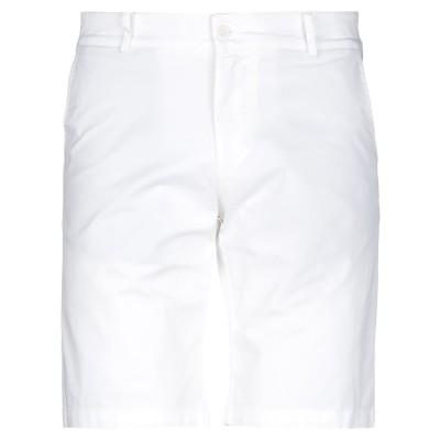 ORIGINAL VINTAGE STYLE バミューダパンツ ホワイト 46 コットン 97% / ポリウレタン 3% バミューダパンツ