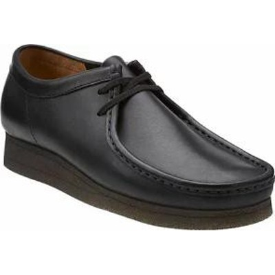 Clarks メンズシューズ Clarks Wallabee Boot Black/Black Leather