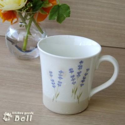 【訳あり】マグカップカップ 紫ラベンダーマグ アウトレット品込み/おしゃれ かわいい/花柄/日本製/業務用食器