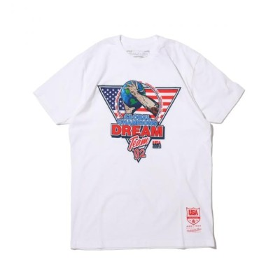 【アトモス ピンク/atmos pink】 Mitchell & Ness 1992 GLOBAL CHAMPS TEE WHITE 20SU-I