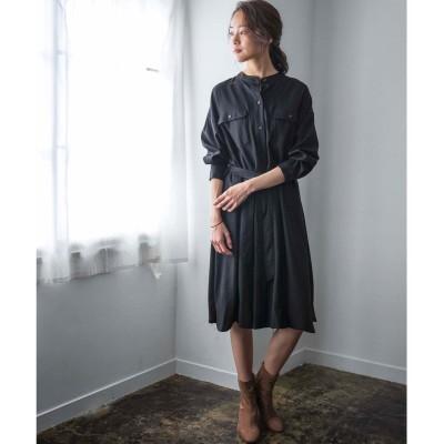 ジーラ GeeRA 【WEB限定】ミリタリーデザインシャツOP (ブラック)