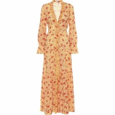 プーペット セント バース Poupette St Barth レディース ワンピース マキシ丈 ワンピース・ドレス Rita floral cotton maxi dress Yello