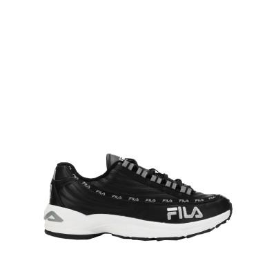 FILA HERITAGE スニーカー&テニスシューズ(ローカット) ブラック 9.5 革 / 紡績繊維 スニーカー&テニスシューズ(ローカット)
