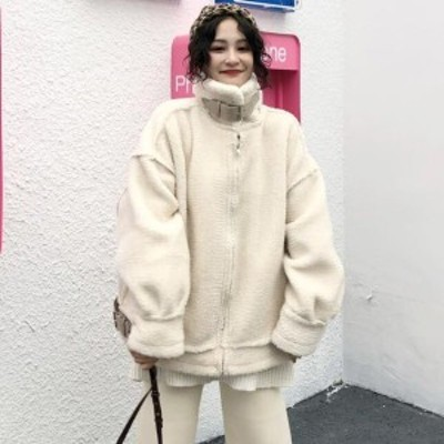 ジャケット ボアコート ボリューム 可愛い モコモコ ショート丈 アウター レディース ゆったり 大きいサイズ 秋冬 暖かい 冬服