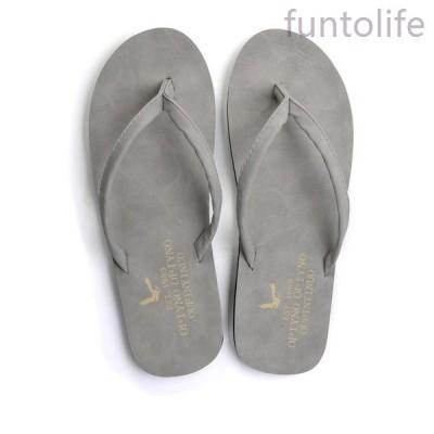 サンダルメンズファッション2019おしゃれレザービーチサンダルスリッパPUレザーサンダルビーサン靴sdr008