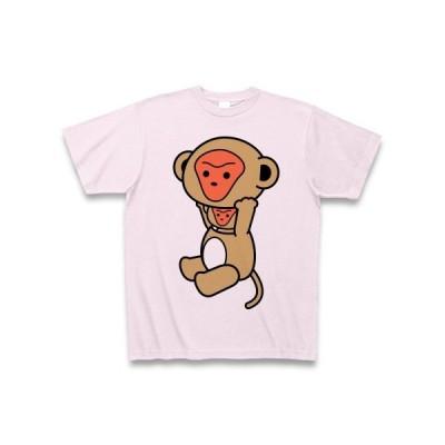 着ぐるみバイトさる(色付) Tシャツ(ピーチ)