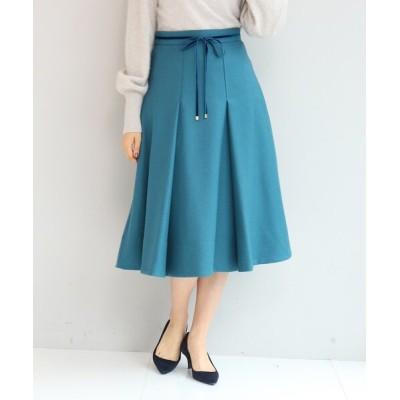 anatelier / 【SS-Lサイズあり】リボンベルト付きタックフレアースカート WOMEN スカート > スカート