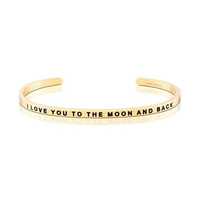 MantraBand Bracelet - I Love You to The Moon and Back - Inspirational Engra