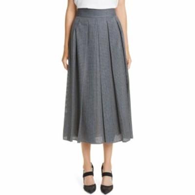 フェンディ FENDI レディース スカート Perforated Pleated Wool Skirt Drum