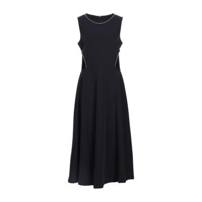 MEHTAP ELAIDI 7分丈ワンピース・ドレス ブラック 40 ポリエステル 96% / ポリウレタン 4% 7分丈ワンピース・ドレス