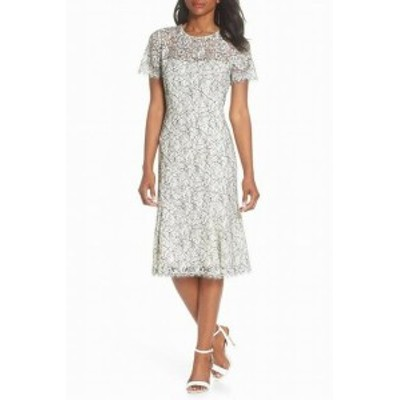 Eliza J エリザジェイ ファッション ドレス Eliza J Womens Dress Black White Size 2 Floral Lace Sheath Jewel Neck