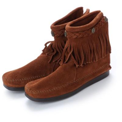 ミネトンカ Minnetonka Hi Top Back Zip Boots (ブラウン)