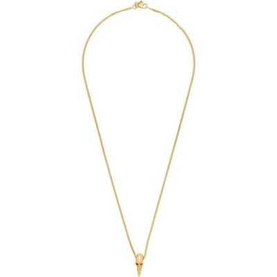 エマニュエレ ビコッキ Emanuele Bicocchi メンズ ネックレス ジュエリー・アクセサリー SSENSE Exclusive Gold Skull Horn Necklace Gold