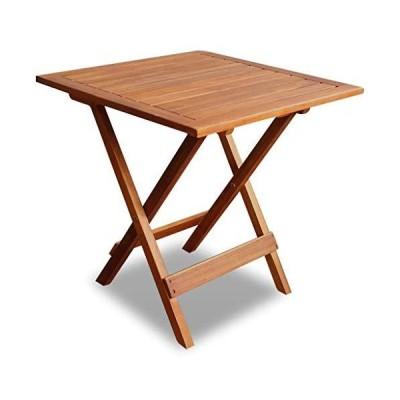 [新品]vidaXL Outdoor Folding Square Coffee/Side Table Acacia Wood Patio Deck Garden Furniture