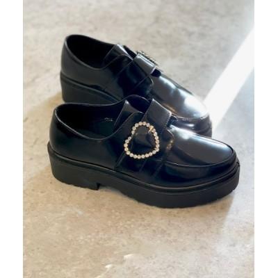 Shoes in Closet -シュークロ- / 厚底 ハートバックル 軽量ローファー《約4.5cmソール》1994 WOMEN シューズ > ドレスシューズ