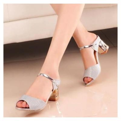サンダル レディース  太いヒール  30代 40代  オフィス  疲れないサンダル  歩きやすい  婦人靴 ファッション  夏