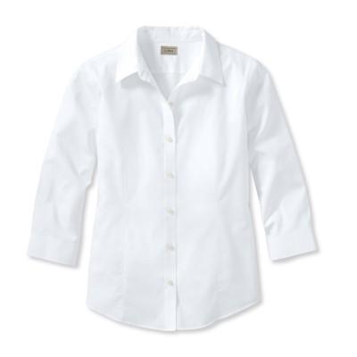 リンクルフリー(形態安定)・ピンポイント・オックスフォード・シャツ、7分丈袖