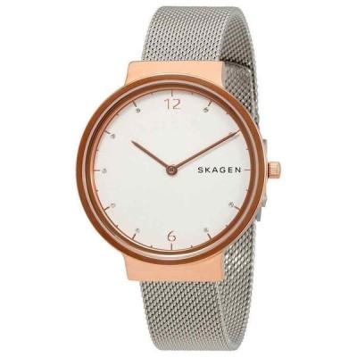 スカーゲン 腕時計 Skagen レディース Ancher アンカー White ホワイト Dial Stainless Steel Mesh クォーツ Watch SKW2616