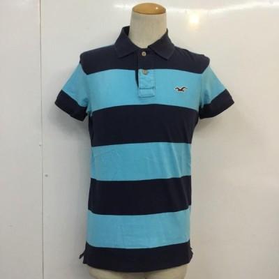 Hollister ホリスター 半袖 ポロシャツ Polo Shirt ボーダー 刺繍 10049510