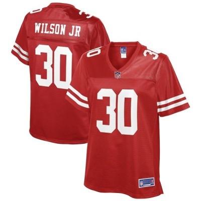 エヌエフエル プロ ライン レディース Tシャツ トップス Jeff Wilson Jr. San Francisco 49ers NFL Pro Line Women's Player Jersey