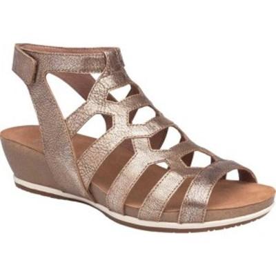 ダンスコ レディース オックスフォード シューズ Valentina Caged Sandal (Women's) Gold Nappa Leather