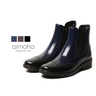 ショートレインブーツ レインブーツ レディース ショート サイドゴア オックスフォード 靴 軽量 防水 撥水 長靴