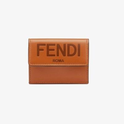 フェンディ FENDI マイクロ 三つ折り財布(8M0395AAYZF0QVK)ブラウンレザー 財布
