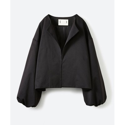 【ハコ】 ボリューム袖重ね着対策にぴったりな 袖ふんわりブルゾン レディース ブラック M haco!