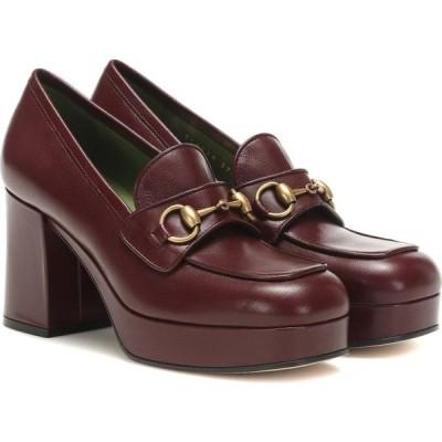 グッチ Gucci レディース パンプス シューズ・靴 Horsebit leather loafer pumps Vint/Bordeaux/Vint/B