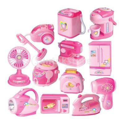 子供のための12個のミニフラッシュキッチン家電セットおもちゃ