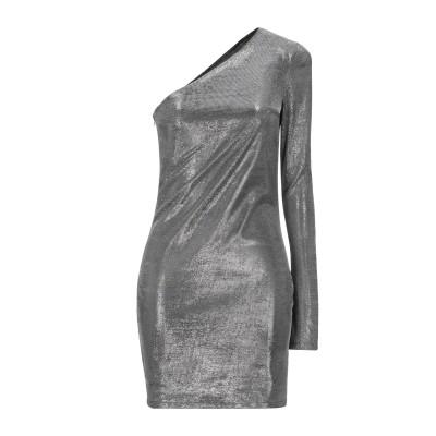 ACTUALEE ミニワンピース&ドレス シルバー 44 ポリエステル 50% / Lurex® 50% ミニワンピース&ドレス