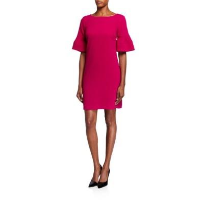 トリーナターク レディース ワンピース トップス Sojourn Tiered Sleeve Crepe Shift Dress