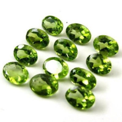 【海外からのお取り寄せ】ペリドット Natural Peridot 4x3mm Oval Faceted Cut 10 Pieces Green Color Loose Gemstone Lot