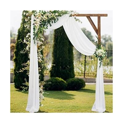 2 Panels Chiffon Wedding Arch Drapes 20ft Voile Chiffon Wedding Banquet Dra