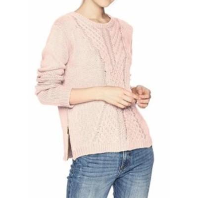 Roxy ロキシー ファッション トップス Roxy Womens Sweater Pink Size 6 Crewneck Knitted Side-Slit Romance