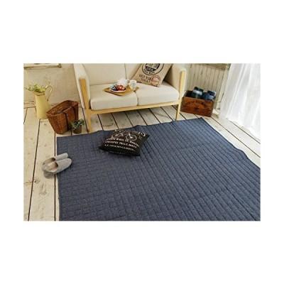 スミノエ 丸洗いできる ラグ スウェットキルト 130×185cm ブルー 11744588