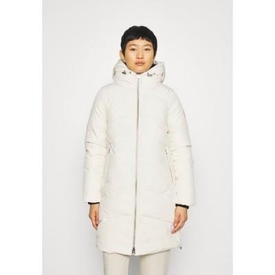 カルバンクライン コート レディース アウター ELEVATED LONG LENGTH JACKET - Winter coat - white smoke