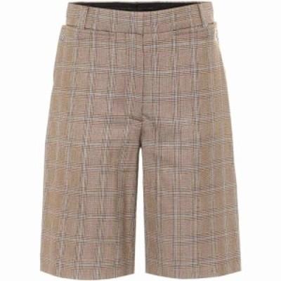 バーバリー Burberry レディース ショートパンツ バミューダ ボトムス・パンツ Mae Virgin Wool Bermuda Shorts Birch Brown Ip Pttn