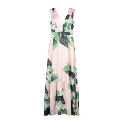 ゲス GUESS ロングワンピース&ドレス ピンク XS レーヨン 100% ロングワンピース&ドレス
