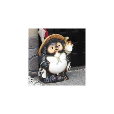 信楽焼  18号福々ひねり狸傘立て たぬき傘立て タヌキ傘たて かさたて  傘立て 新築祝 開店祝 ギフト kt-0030