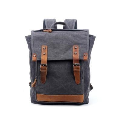 ティエスディー レディース バックパック・リュックサック バッグ Discovery Canvas Backpack GREY