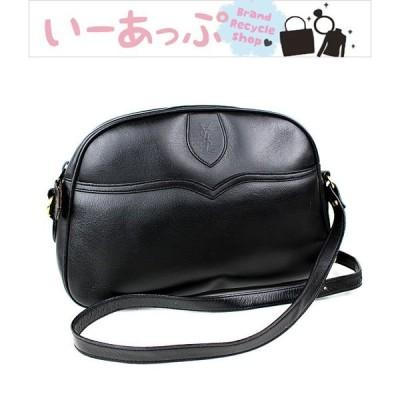 サンローラン ショルダーバッグ ポシェット 黒 レザー  極美品 k578