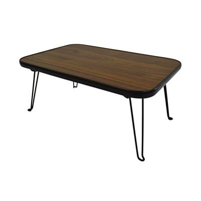 折りたたみ ローテーブル スクエアテーブル ( 角型 長方形 ) 45×30cm ブラウン OTG-A06