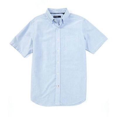 ダニエル クレミュ メンズ シャツ トップス Short-Sleeve Solid Oxford Woven Shirt
