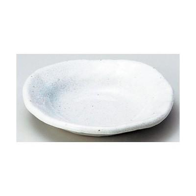 ☆ 小皿 ☆ 白釉変形丸小皿 [ φ10 x 1.8cm ] 【 料亭 旅館 和食器 飲食店 業務用 】